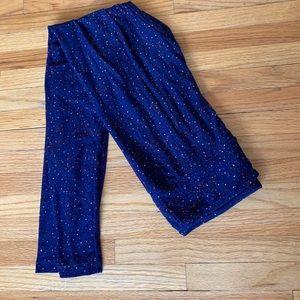 NWOT navy and speckled LLR leggings o/s